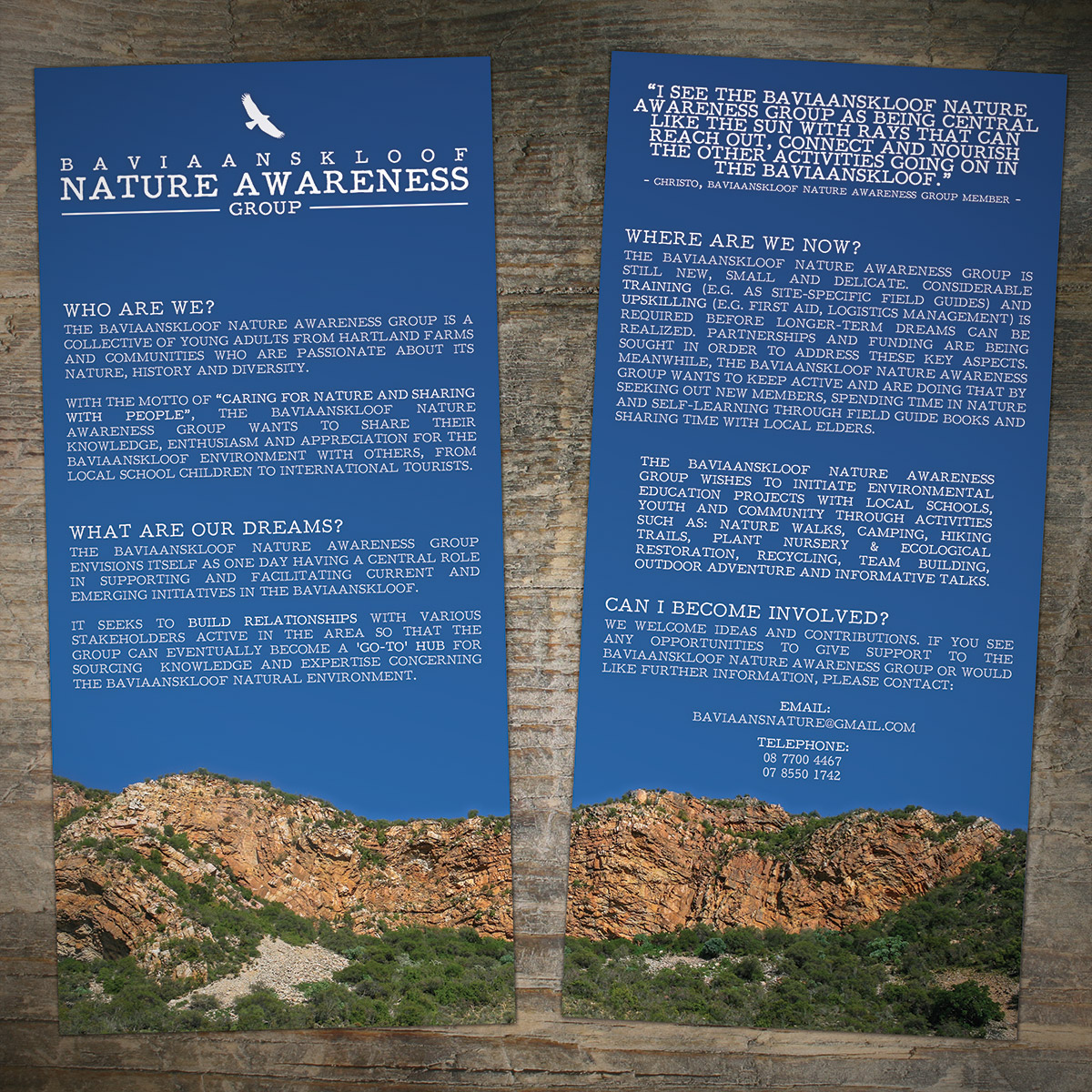 Baviaanskloof Nature Awareness Group Brochure