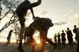 """""""Ostrich Dance"""" by the  !Gwikwe Bushmen (filmed by Paul Myburgh)"""
