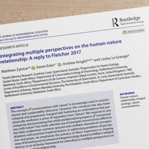 IntegratingMultiplePerspectivesOnTheHumanNatureRelationship2017